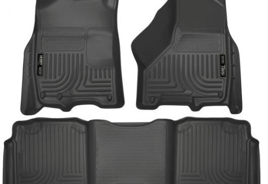Tapis caoutchouc AV/AR noir RAM 09-18