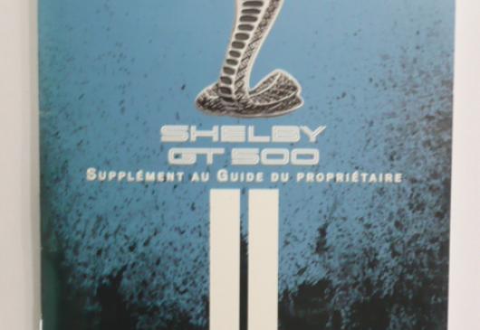 SHELBY GT500 2010 origine en français